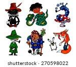 illustration set fairy tales... | Shutterstock .eps vector #270598022