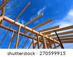 installation of wooden beams at ...