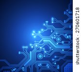 circuit board vector background | Shutterstock .eps vector #270601718