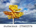 signpost in the stirling point  ... | Shutterstock . vector #270602576