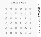 36 car and garage line icons | Shutterstock .eps vector #270608216