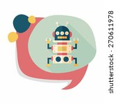 robot concept flat icon with... | Shutterstock .eps vector #270611978