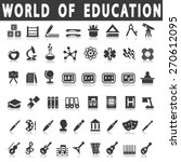 education icons | Shutterstock .eps vector #270612095