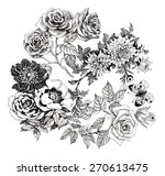 beautiful romantic floral... | Shutterstock .eps vector #270613475