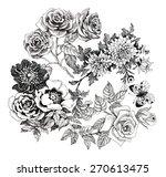 beautiful romantic floral... | Shutterstock .eps vector #270613475