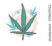 cannabis leaf  vector...   Shutterstock .eps vector #270615512