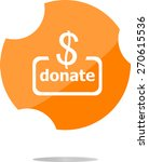 vector donate sign icon. dollar ...