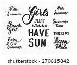 set of summer motivational... | Shutterstock .eps vector #270615842