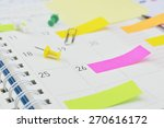 colorful post it notes with pin ... | Shutterstock . vector #270616172