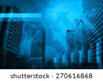 arrow head with financial graph ... | Shutterstock . vector #270616868