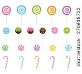 mixed candy vector | Shutterstock .eps vector #270618722