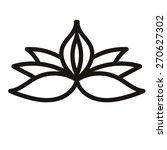 linear flower. icon  logo ... | Shutterstock .eps vector #270627302