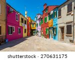street with colorful buildings... | Shutterstock . vector #270631175