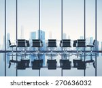 clean office with cityscape. 3d ... | Shutterstock . vector #270636032