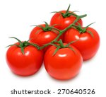 branch of fresh red tomatoes on ... | Shutterstock . vector #270640526
