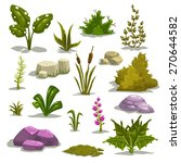 cartoon nature elements  vector ... | Shutterstock .eps vector #270644582