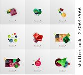 set of paper graphic layouts.... | Shutterstock .eps vector #270647966