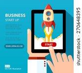 vector business start up... | Shutterstock .eps vector #270648395