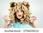 Little Girl With Lion Mane...