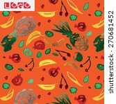 fruit watercolor pattern | Shutterstock .eps vector #270681452