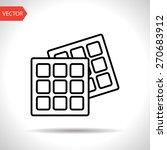 vector belgian waffles icon.... | Shutterstock .eps vector #270683912