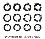 set of black vector circle... | Shutterstock .eps vector #270687002