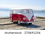 miniature vw bulli 1962 on the... | Shutterstock . vector #270691256