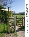 Wooden Public Footpath Sign