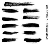 vector set of grunge brush... | Shutterstock .eps vector #270698405
