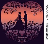 wedding invitation card with... | Shutterstock .eps vector #270700922