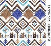 bright hand drawn tribal... | Shutterstock .eps vector #270703766