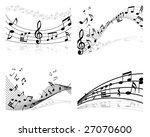set of four vector musical... | Shutterstock .eps vector #27070600