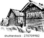russian north  wooden... | Shutterstock .eps vector #270709982