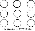coffee stain ring vector  ... | Shutterstock .eps vector #270712316