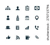 company icons set on white... | Shutterstock . vector #270715796