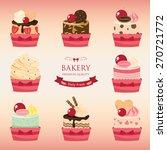 set of bakery menu cupcake | Shutterstock .eps vector #270721772