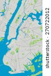 Large Vector Map Of New York...
