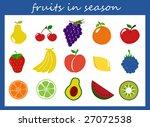 fruit vector   Shutterstock .eps vector #27072538