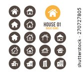 house icons. real estate.... | Shutterstock .eps vector #270727805