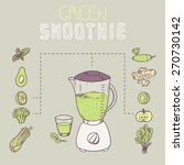 green smoothie template recipe... | Shutterstock .eps vector #270730142