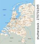high detailed netherlands road... | Shutterstock .eps vector #270731345