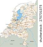 high detailed netherlands road... | Shutterstock .eps vector #270731375