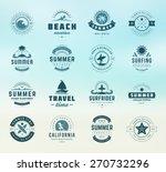 summer holidays labels design... | Shutterstock .eps vector #270732296