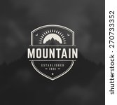 mountain design element in... | Shutterstock .eps vector #270733352