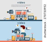 video marketing. man record... | Shutterstock .eps vector #270733952