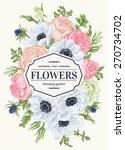 Vintage Floral Card With Garde...