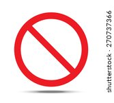 not allowed sign. vector... | Shutterstock .eps vector #270737366