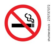 no smoking sign | Shutterstock .eps vector #270737372