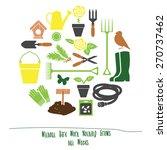 spring gardening tools set... | Shutterstock .eps vector #270737462