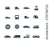 car icons set on white... | Shutterstock . vector #270738722